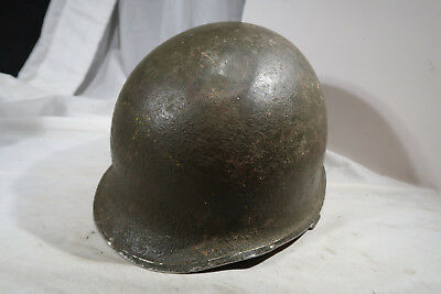WWII US Army Front Seam Swivel Bales Helmet with Liner