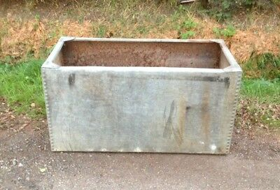 Galvanised Riveted Tank (4'x2'x2' Approx).