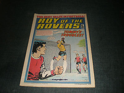 Roy Of The Rovers Comic Book 28Th Oct 1978 Football Gift Idea Birthday Christmas