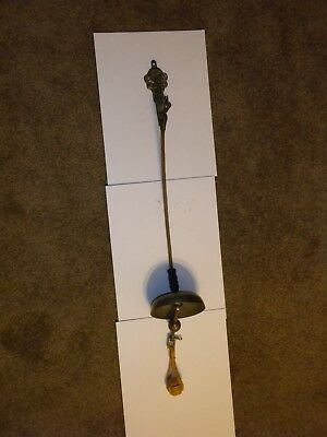 "Bell, Brass,Tibet, Hanging from 10"" Rope, w/ Brass Bracket, Shackle & Pull Rope"