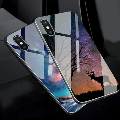 For iPhone 7 Case For iphone X Case Tempered Glass Case Silicon Luxury Star Spac