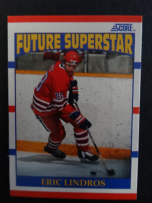 1990-91 Score #440 Eric Lindros Future Superstar RC Rookie Hockey Card