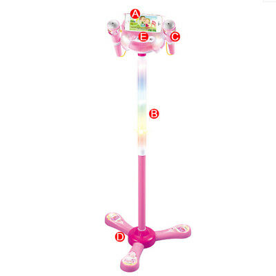 Party Toy Karaoke Xmas Singing With 2 Microphones Kids Machine Adjustable Stand