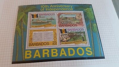 Barbados 1976 Sg Ms573 10Th Anniv Of Independence Mnh