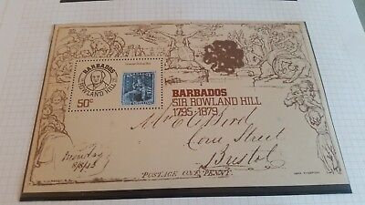 Barbados 1979 Sg Ms620 Death Cent Of Sir Rowland Hill Mnh