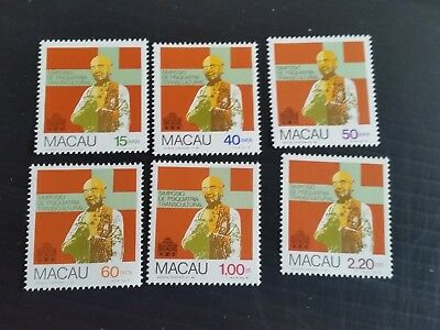 Macao 1981 Sg 547-552 Transculural Psychiatry Symposium  Mnh (M)