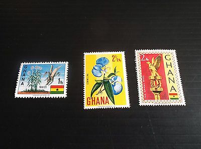 Ghana 1967 Sg 460-462-463 Definitives. Mnh