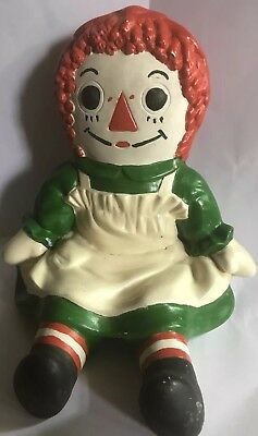 Vintage 1970's Ceramic Bobs Merrill Corporation  Raggedy Ann Green Dress