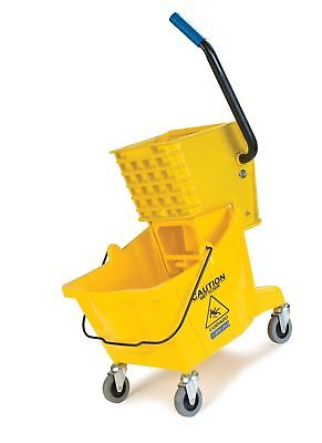 Carlisle 3690804 Commercial Mop Bucket With Side Press Wringer, 26 Quart Capa...