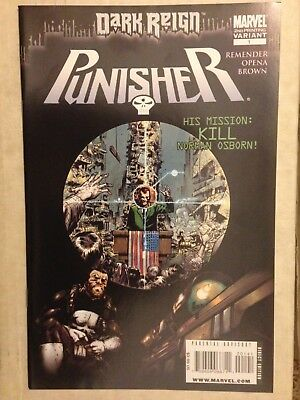 PUNISHER DARK REIGN  #1 VARIANT   2ND PRINT NM- marvel
