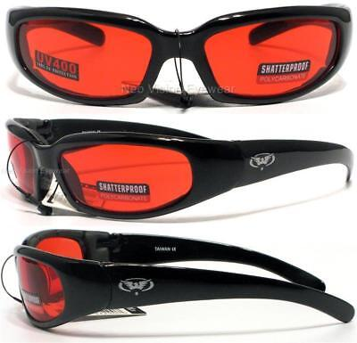 Global Vision Chicago Foam Padded Sunglasses Motorcycle Shatterproof All Colors