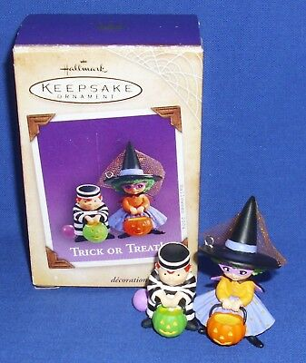 Hallmark Halloween Ornament Trick or Treat 2004 Jailbird Witch Used See Box