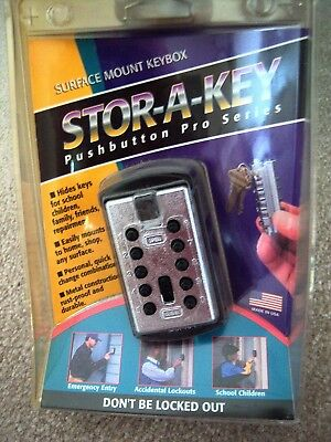 Stor-A-Key Pushbutton Pro Series Surface Mount Keybox New Sealed REDUCED