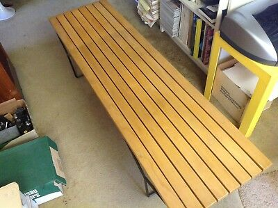 Original Bertoia Slotted Oak Bench - Very Good Condition - Pick-Up Only!