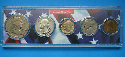 1956 US Coin Year Set 5 Coins 90% Silver