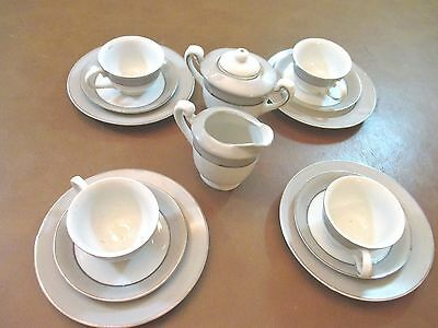 Vintage Mini  Japanese Cup & Saucers – SIGNED  15Pc Set 2-4""