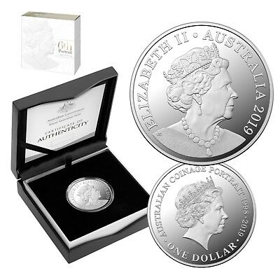 Australia 2019 6th Effigy Her Majesty The Queen $1 Dollar Pure Silver Proof RAM
