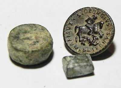 ZURQIEH -as7358- ANCIENT HOLY LAND, 2 BRONZE ITEMS, INCL. 2 ROMAN WEIGHTS.