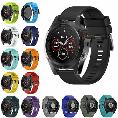 Silicone Quick Install Band Easy Fit Wrist Strap For Garmin Fenix 3 5X Watch