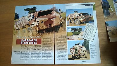 5 Page sides Article on Fuchs 1A 8A3 Transportpanzer FLW 200 engine Kassel