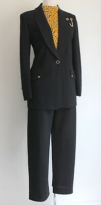 St John Suit By Marie Gray Jacket Top & Pants Santana Knit Sz US 10 UK 12 Top L