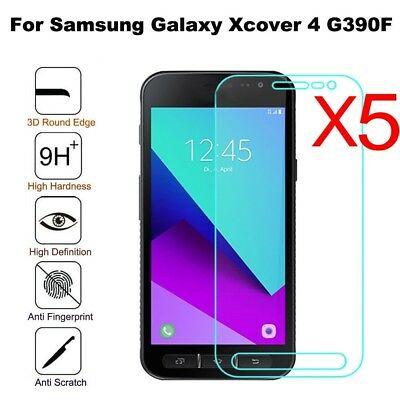 5Pcs Tempered Glass Screen Protector Film for Samsung Galaxy Xcover 4 SM -G390F
