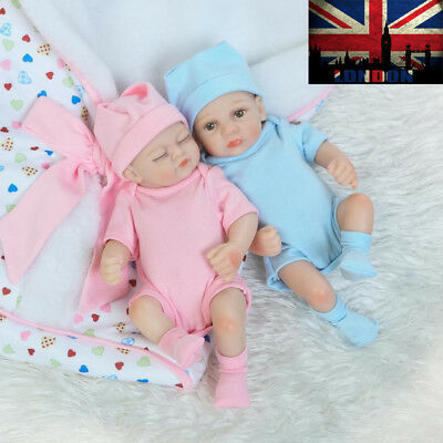 Realistic Full Silicone Vinyl Reborn Doll Kid Friendly Lifelike Newborn Baby Uk