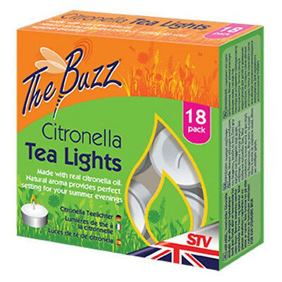 Citronella Tea Lights - Pack of 18 By The Buzz