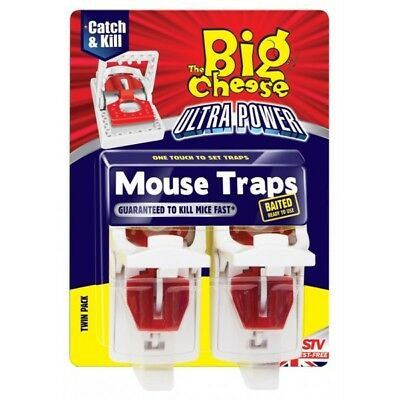 Ultra Power Mouse Traps - Pack of 2 By The Big Cheese