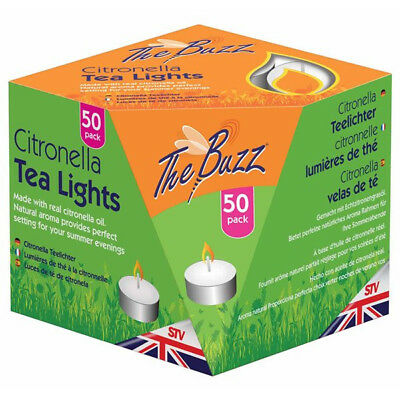 Citronella Tea Lights - Pack of 50 By The Buzz