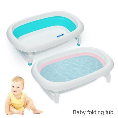 Portable Folding Baby bathtub Infant Baby Bath Bathing Safety flat Foldable Tub