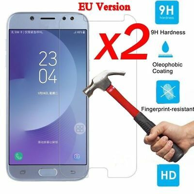 2X For Samsung J3 J5 J7 J4 J6 J8 Hard Tempered Glass Screen Protective Film EU