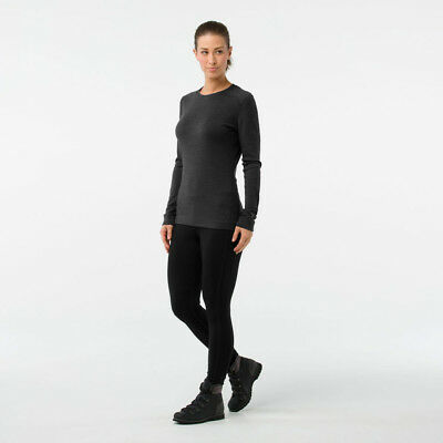 SmartWool Womens Smartwool Merino 250 Baselayer Crew Top Grey Sports Outdoors