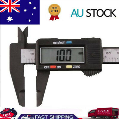 150mm 6inch Digital Electronic Carbon Fiber Vernier Caliper Gauge Micrometer New