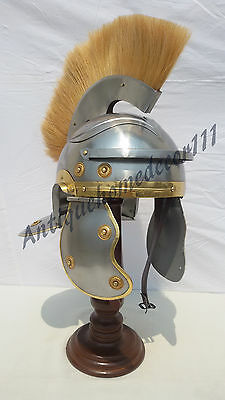 Medieval 300 Movie Roman Greek King Leonidas Helmet Wooden Stand Halloween Gift