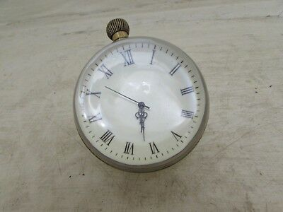 Vintage Glass Ball Clock For Spares Or Repairs Movement 17 ZSZ