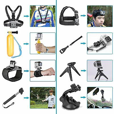 Neewer 21 in-1 Kit Accessoires pour Gopro 4 3+ 3 2 1 Sj4000