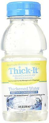 Thick-It Aquacare H2O Nectar Consistency Thickened Water Beverage, 8 Ounce