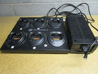 Motorola Multi Gang Charger WPLN4171AR With Adapter Used