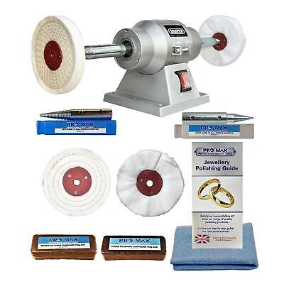 "Jewellery Polishing Machine 6"" 150W Bench Grinder And 4"" Jewellery Polishing Kit"