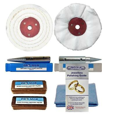 "Jewellery Bench Grinder Polishing Buffing Kit Pro-Max 4"" x 1"""