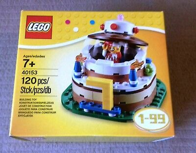 LEGO Baukasten Sets BIRTHDAY CAKE 40153 Bau Konstruktionsspielzeug NEW BOXED SEALED