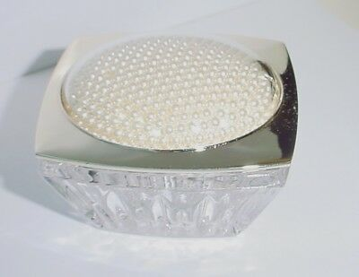 LENOX *Jubilee Pearl* Pearls Under Glass Lidded Ring Box SKU #774577