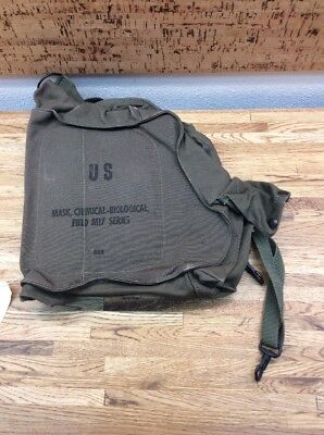Us Army M17 Gas Mask 1991 Dated Canvas Carrier Bag New Old Stock E-1
