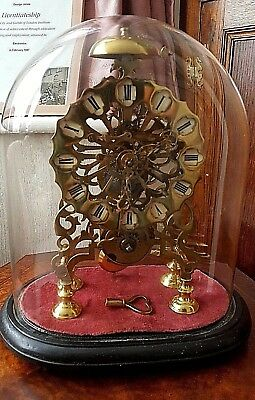 Victorian Brass fusee skeleton Mantel clock with passing strike.