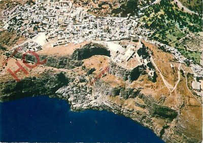 Picture Postcard, Rhodes, Lindos, Aerial View
