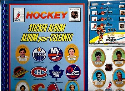 1983-84 Funmate Puffy Stickers Nhl Hockey Panel Card And Album See List
