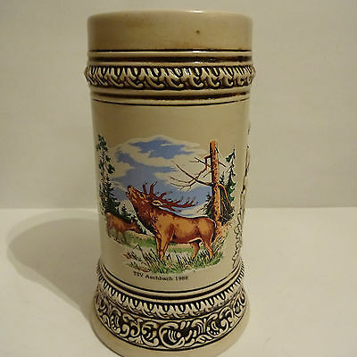 "Beer Mug Deer Red Deer Hunting Hunting Mug "" Aschbach "" Beer"