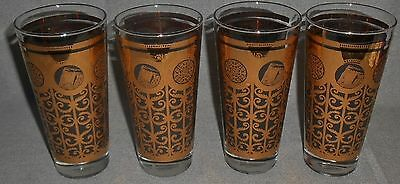 1965 Set (4) Libbey PRUDENTIAL INSURANCE 90th Anniversary 16 oz TUMBLERS