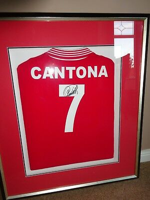 c8ff69699 Manchester United football shirt no.7. Signed and authenticated by Eric  Cantona.